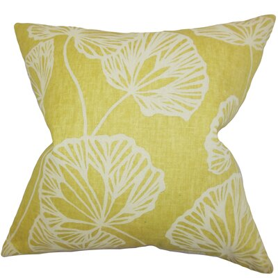 Coraline Floral Floor Pillow Color: Yellow