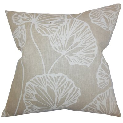 Coraline Floral Floor Pillow Color: Natural