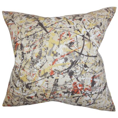 Lansford Geometric Floor Pillow Color: Black