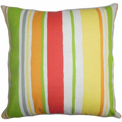 Burnham Stripes Floor Pillow Color: Green/Yellow