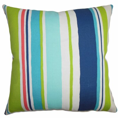 Burnham Stripes Floor Pillow Color: Turquoise/Blue