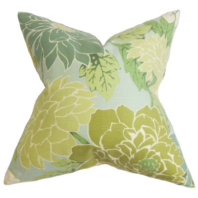 Ashendon Floral Floor Pillow Color: Green