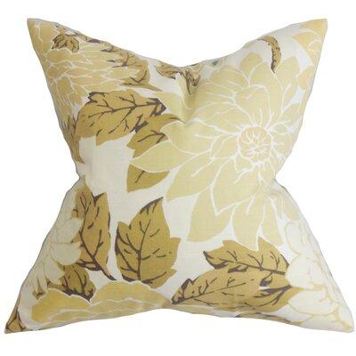 Ashendon Floral Floor Pillow Color: Neutral