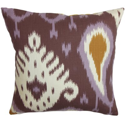 Rasnick Donofrio Ikat Floor Pillow Color: Purple