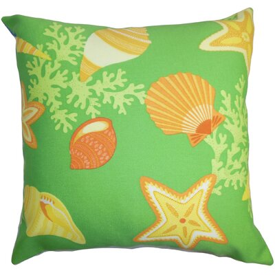 Fortner Coastal Floor Pillow Color: Green/Yellow