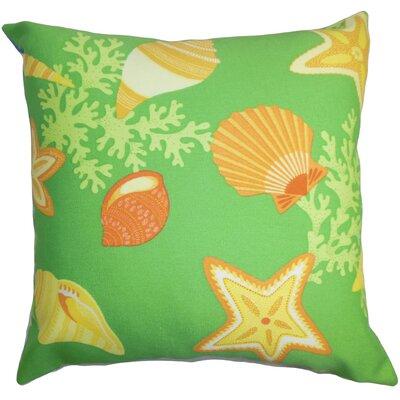 Fortner Coastal Floor Pillow Color: Green/Yellow