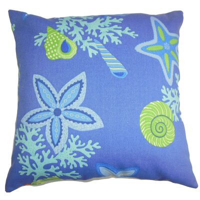 Fortner Coastal Floor Pillow Color: Blue/Green