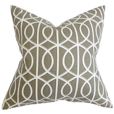 Aguero Geometric Floor Pillow Color: Brown/White