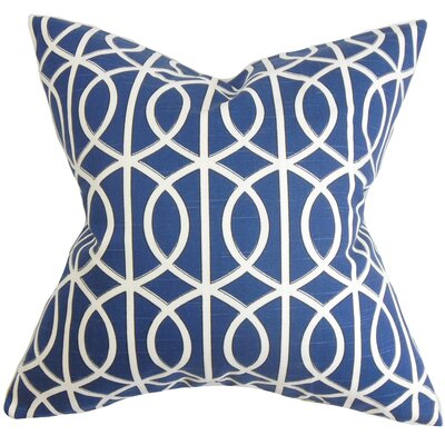 Aguero Geometric Floor Pillow Color: Blue