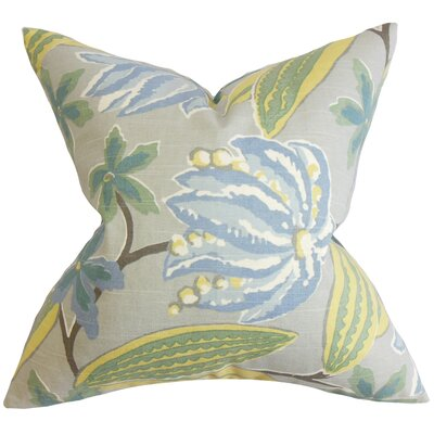 Bryleigh Floral Floor Pillow Color: Blue