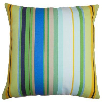 Birmingham Stripes Floor Pillow Color: Blue/White