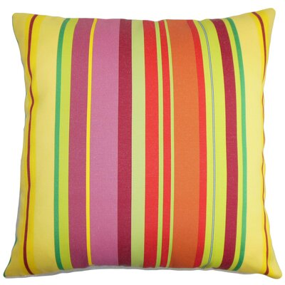 Birmingham Stripes Floor Pillow Color: Yellow/Orange