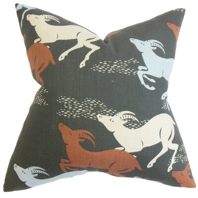 Jeremiah Animal Floor Pillow Color: Red