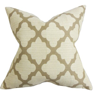 Bernette Geometric Floor Pillow Color: Brown