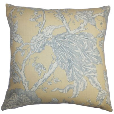 Chambord Floral Floor Pillow Color: Natural/Gray