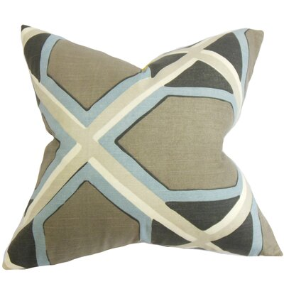 Foltz Geometric Floor Pillow Color: Gray/Blue