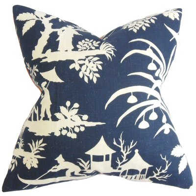 Delana Floral Floor Pillow Color: Blue