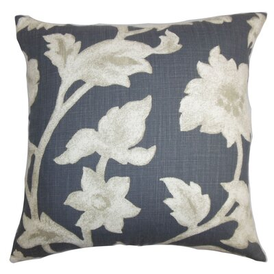 Champney Floral Floor Pillow Color: Black