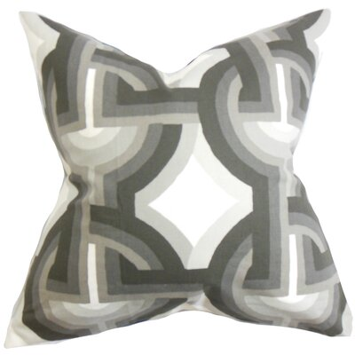 Westerlo Geometric Floor Pillow Color: Gray/White
