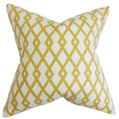 Armala Geometric Floor Pillow Color: Yellow