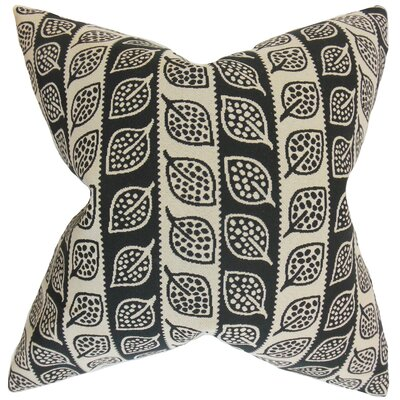 Aaron Foliage Floor Pillow Color: Black