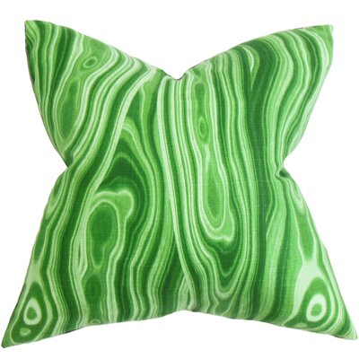 Boyer Geometric Floor Pillow Color: Green