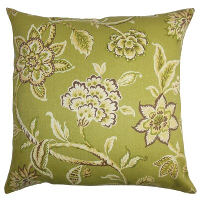 Rutland Floral Outdoor Floor Pillow Color: Green