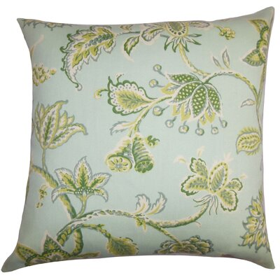 Rutland Floral Outdoor Floor Pillow Color: Blue
