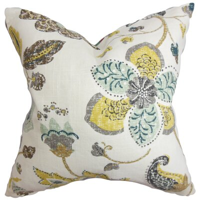 Chamberlin Floral Floor Pillow Color: White