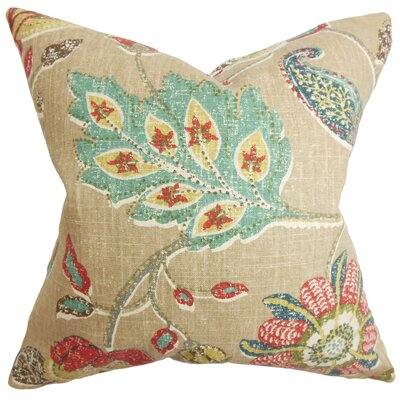 Chamberlin Floral Floor Pillow Color: Brown