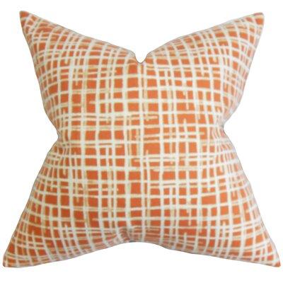 Hartness Plaid Floor Pillow Color: Orange