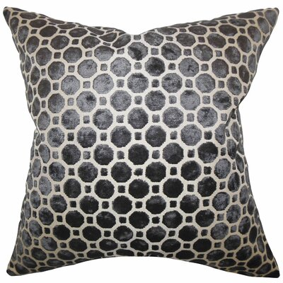 Maeve Geometric Floor Pillow Color: Black