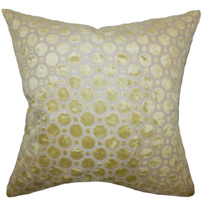 Maeve Geometric Floor Pillow Color: Citrine