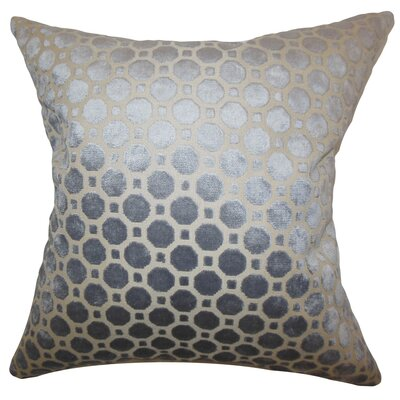 Maeve Geometric Floor Pillow Color: Gray