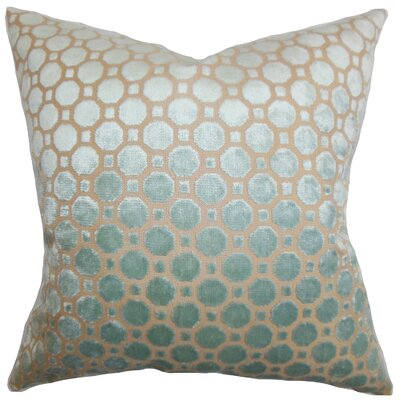 Maeve Geometric Floor Pillow Color: Blue