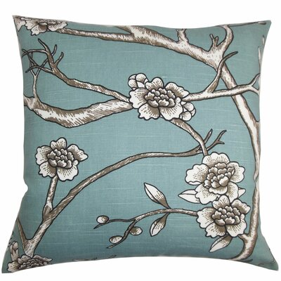 Mangels Floral Floor Pillow Color: Blue
