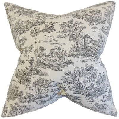 Peraza Toile Floor Pillow Color: Charcoal