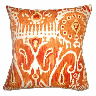 Delron Ikat Floor Pillow Color: Pumpkin