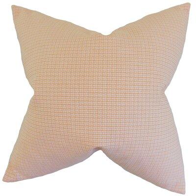 Colt Plaid Floor Pillow Color: Orange