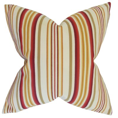 Dunavant Stripes Floor Pillow Color: Gold/Red