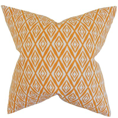 Brandan Geometric Floor Pillow Color: Orange