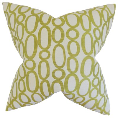 Penshire Geometric Floor Pillow Color: Green