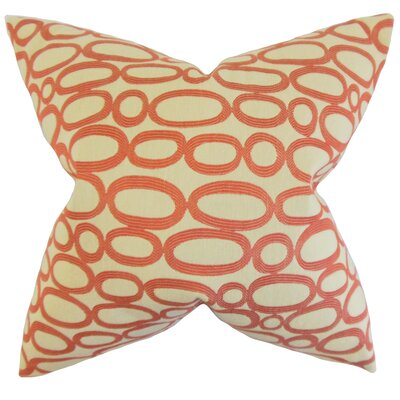 Penshire Geometric Floor Pillow Color: Russett