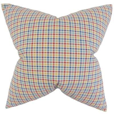 Colt Plaid Floor Pillow Color: Blue/Red
