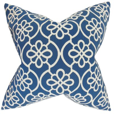 Chaplain Geometric Floor Pillow Color: Navy