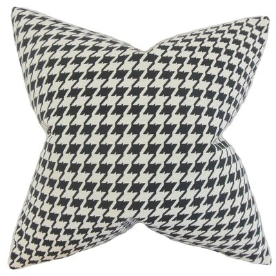 Krieger Houndstooth Floor Pillow Color: Black