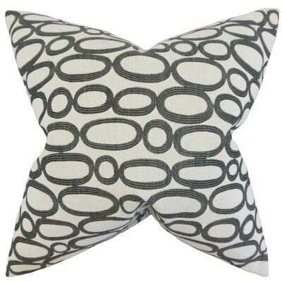 Penshire Geometric Floor Pillow Color: Ebony
