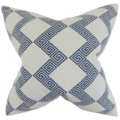 Heckman Geometric Floor Pillow Color: Indigo