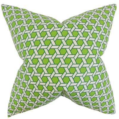 Burditt Geometric Floor Pillow Color: Green