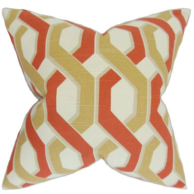 Castleberry Geometric Floor Pillow Color: Russett